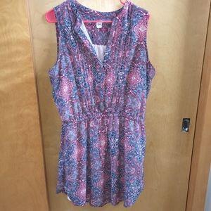 GAP Paisley cinch-waist dress